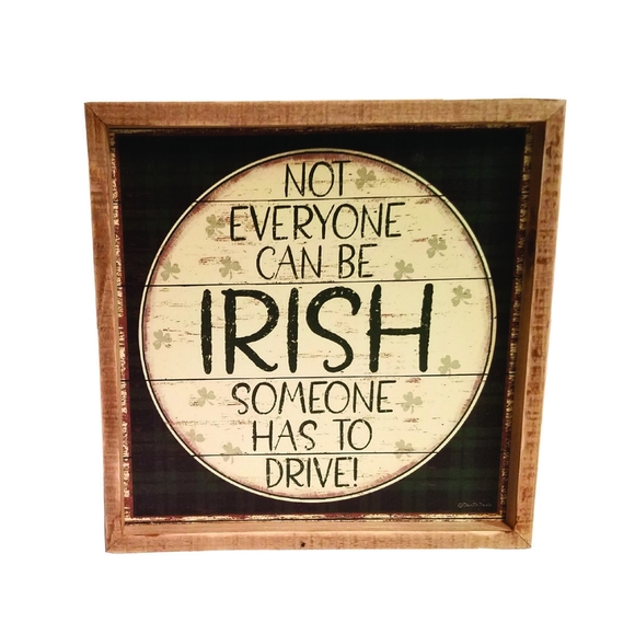 Three Girls & a Wish Other - 🆕☘St. Patrick's Day Irish Wood Box Sign